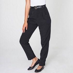 American Apparel high waist pleated pant